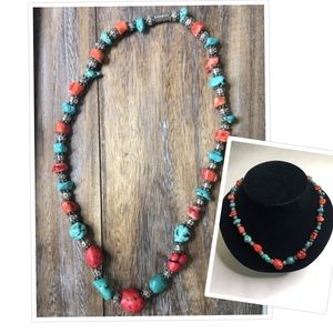"""Turquoise necklace 10"""""""